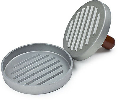 Heavy Duty Metal Non-Stick Quarter Pounder Hamburger Press Maker - 12cm diameter