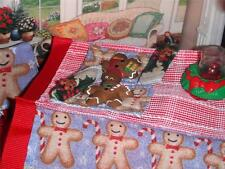 Christmas Gingerbread Placemat Play Food Lot fits Loving Family Dollhouse Doll