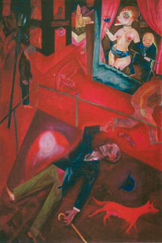Suicide Street with Dog 1916 by George Grosz Fine Art Repro FREE S//H