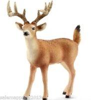Schleich 14709 White-tailed Buck Figurine Deer - Hand Painted - Brand