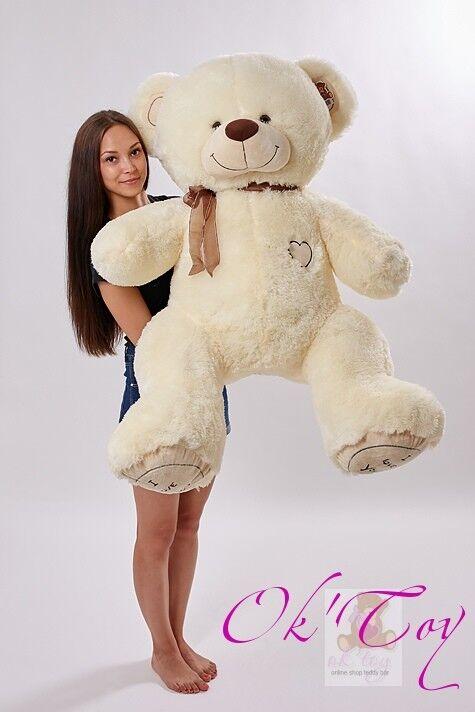 Plüsch Teddybär 160 CM BIG XXL Riesen bär Kuscheltier Stofftier Geschenke idee  | Exquisite Verarbeitung