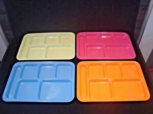 Image is loading 4-Pottery-Barn-Kids-Melamine-Divided-Lunch-Dinner- & 4 Pottery Barn Kids Melamine Divided Lunch Dinner Trays School ...