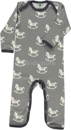 SMAFOLK Anzug Jumpsuit Bodysuit grau weiß Schaukelpferd 56 62 68 74 80 86 NEU