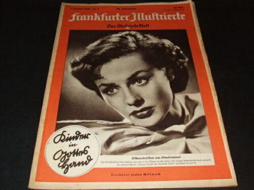 "Geburtstag Februar 1951 70 /""Frankfurter Illustrierte/"" 1951 … Januar"