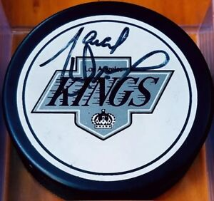 Marcel-Dionne-SIGNED-LOS-ANGELES-KINGS-VINTAGE-GAME-PUCK-NHL-ZIEGLER-TRENCH-RARE