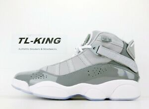 pretty nice be415 3021a Image is loading Nike-Air-Jordan-6-Rings-Cool-Grey-White-