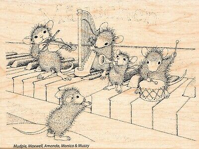 Stampendous Musical Mice Rubber Stamp