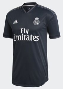 new concept 8144f 17cd6 Details about adidas 2018-2019 Real Madrid Away Authentic Jersey- Navy