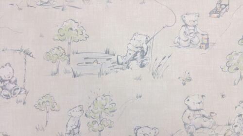 """1m//39/"""" Teddy Picnic Pastel Coton Facile à Nettoyer Toile Cirée Pvc Nappe Co"""