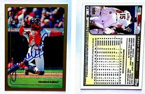 Sandy-Alomar-Jr-Signed-1999-Topps-245-Card-Cleveland-Indians-Auto-Autograph