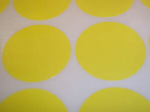 300-Yellow-6mm-Colour-Code-Round-Stickers-Sticky-ID-Labels