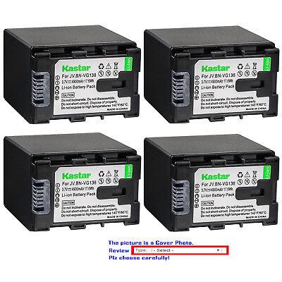 Battery 2 Pack for JVC Everio BN-VG107U BN-VG108U BN-VG138U BN-VG121U BN-VG114U