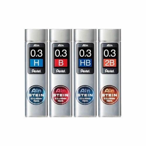 Pentel Ain Stein C273 2B 4pcs HB and H 0.3mm Refill Leads B