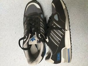 Details about adidas zx 750 UK9 Black grey suede good Condition