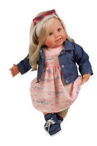 Poupée de jeu bébé tortue Klara cheveux blonds 52 cm 2152729