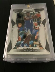 Zion Williamson ROOKIE CARD PANINI PRIZM 2019-20 DRAFT PICKS RC #64 Mint! DUKE