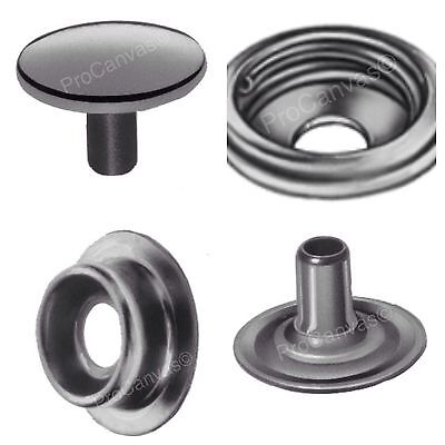 DOT Stainless Steel Snap Fasteners Cap and Socket Kit 25 Sets