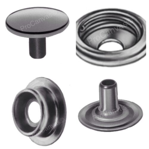 DOT Stainless Steel Caps,Sockets,Studs,Eyelets Snap Fastener Kit 400 pcs