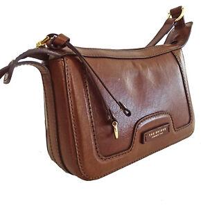 Borsa con patta a tracolla regolabile THE BRIDGE shoulder bag chiusura zip donna