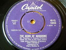 "THE HOLLYRIDGE STRINGS AND CHORUS - THE GUNS OF NAVARONE  7"" VINYL"
