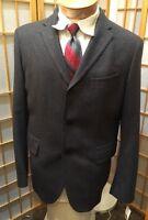 Banana Republic Gray Wool Three Button Blazer Sport Coat Mens Size 42r