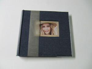 New Burnes Of Boston Photo Album Blue Denim Cover Holds 160 4 X 6