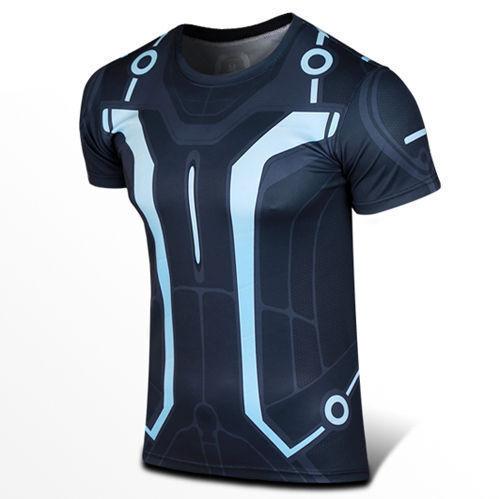 G-LIKE Men/'s Tron Legacy Superhero T-shirt Costume