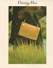 Publicité 1978 Maroquinnerie Sac à main Christian Dior