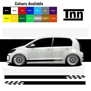 Raya-lateral-Pegatinas-Calcomanias-Para-Vw-Volkswagen-up-Up-GTI-Skoda-Citigo-Seat-Mii