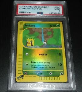 PSA-9-MINT-Sunkern-106-144-Skyridge-REVERSE-HOLO-Pokemon-Card