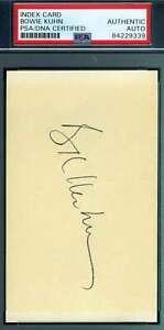 Bowie-Kuhn-PSA-DNA-Coa-Autograph-Hand-Signed-3x5-Index-Card-Autograph