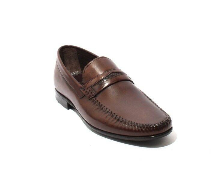 ROBERTO SERPENTINI 43206a Brown Leather Loafers shoes 42   US 9