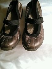 Privo Women's Mary Jane Ballet Flat Shoes Size 6 Pewter Leather