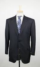 New. BRIONI Nomentano Black Striped Super 200's Wool 3 Roll 2 Suit 54/44 S $8295