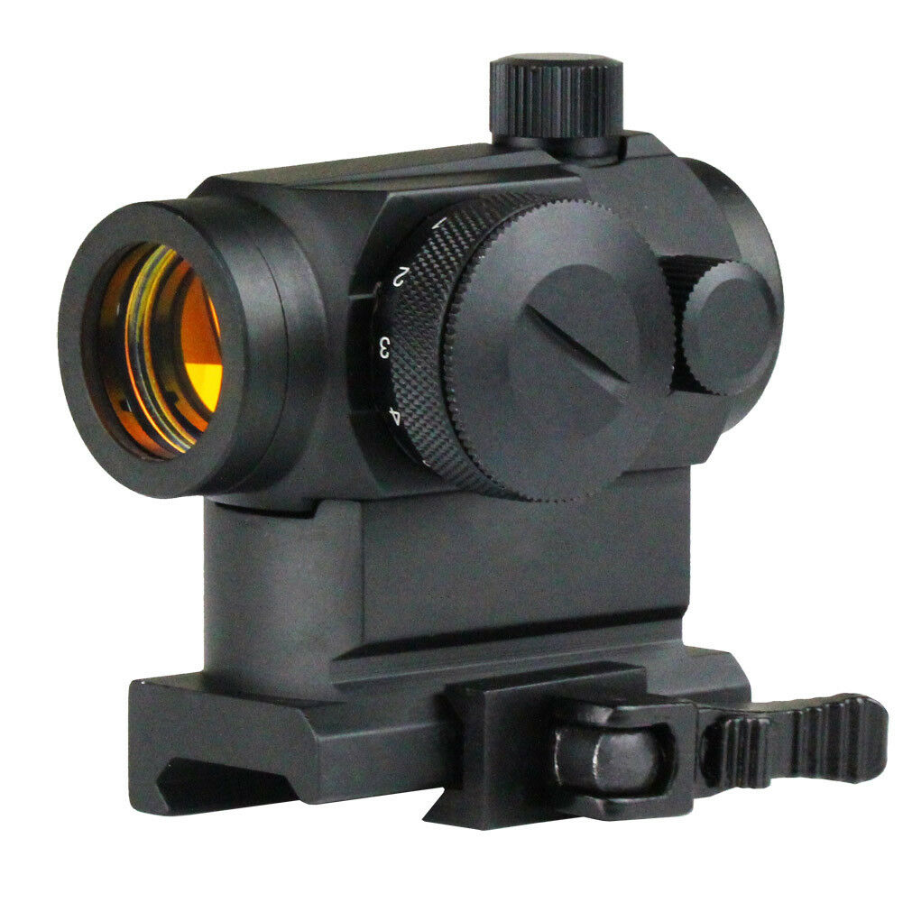 New Tactical Reflex Red Dot Sight Telescopic Scope With QD 20mm Picatinny Mount