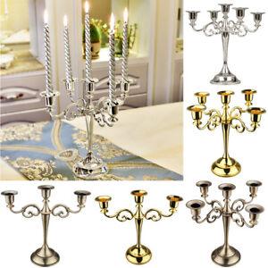 Candle & Tea Light Holders Candelabra Candle Holder Stick 3Arm Table Candlestick Xmas Wedding Dinning Decor