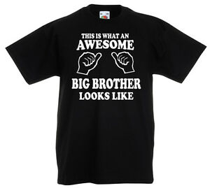 Big Brother T-Shirt Boys Age 3-13 Ideal Gift//Present