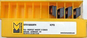 4 Piezas Plaquitas Intercambiables Kennametal D2FIX150505RFN KCP25