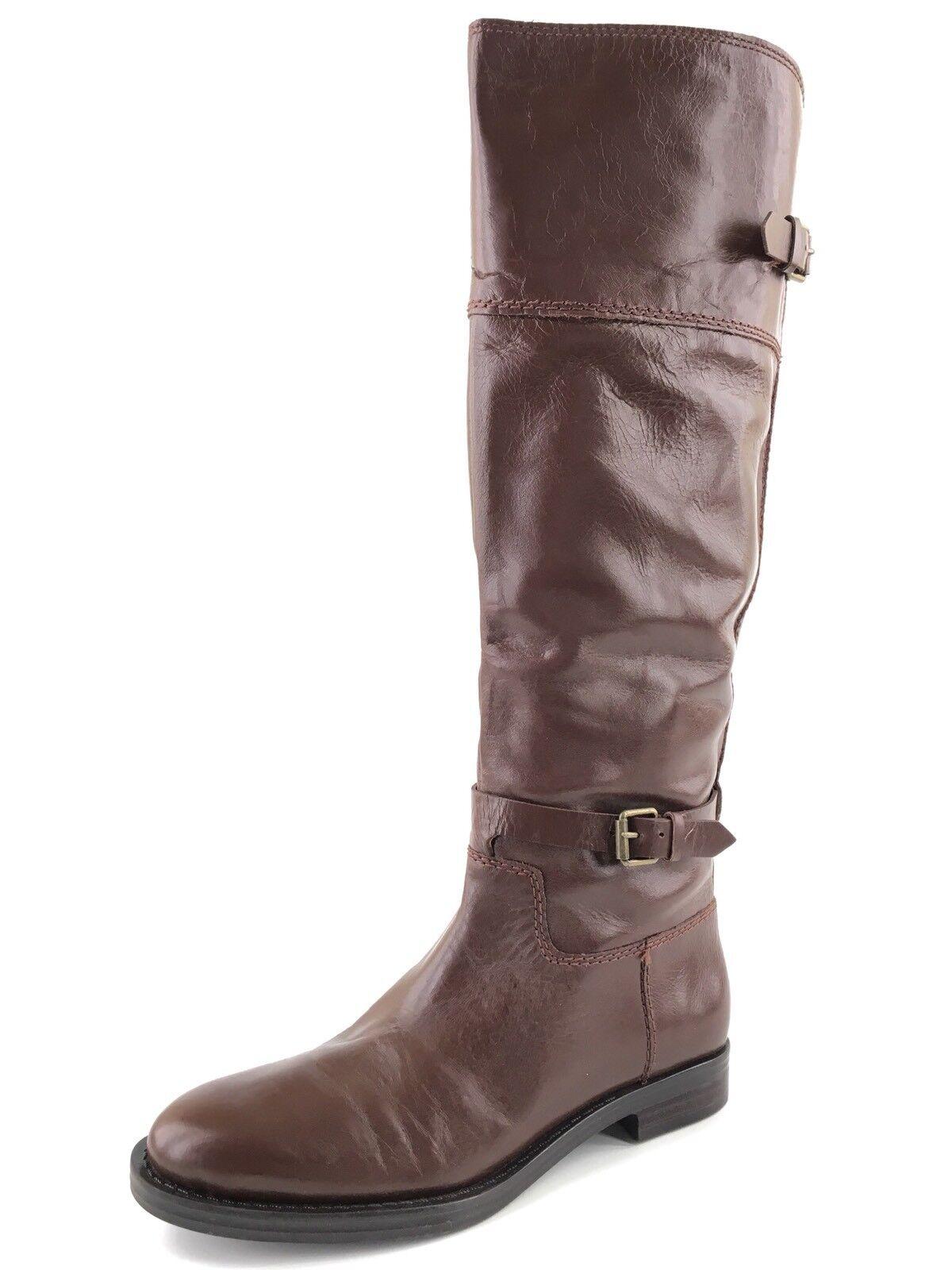 NEU Enzo Angiolini Eero Braun Leder Knee High Stiefel Damens's Größe 5.5 M ^