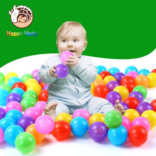 Colorful Plastic Pit Balls For Kids Pool Soft Ocean Balls 50Pcs 100Pcs
