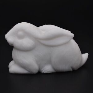 3-1-034-Rabbit-Statue-Healing-Crystal-Natural-Gemstone-White-Jade-Carved-Art-Orname