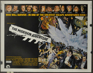 Details About The Poseidon Adventure 1972 Original 22x28 Movie Poster Gene Hackman