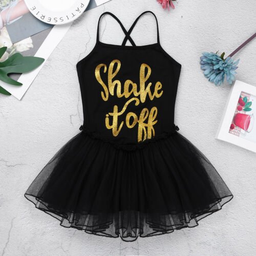 Girl Ballet Dance Dress Kid Baby Gymnastics Leotard Tutu Skirt Dancewear Costume