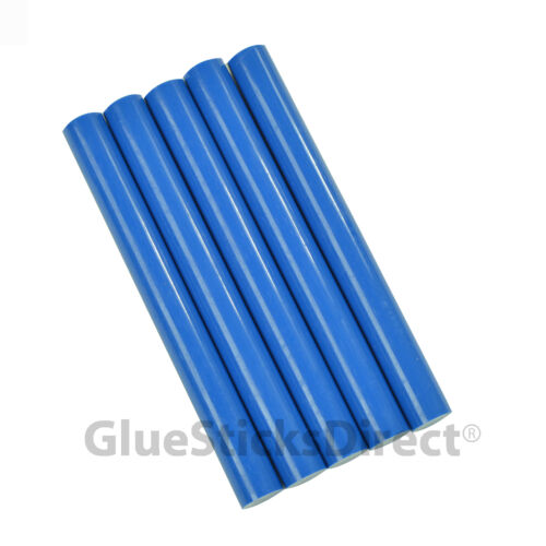 "GlueSticksDirect Royal Blue Colored Glue Sticks 7//16/"" X 4/""   5 sticks"