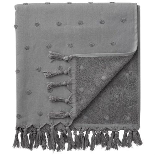 cement 140x70 cm Lene Bjerre Lauren 100/% Pure Cotton towel