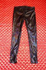LIP SERVICE DARK MATTER BLACK PVC PANTS M 38-374 NWOT