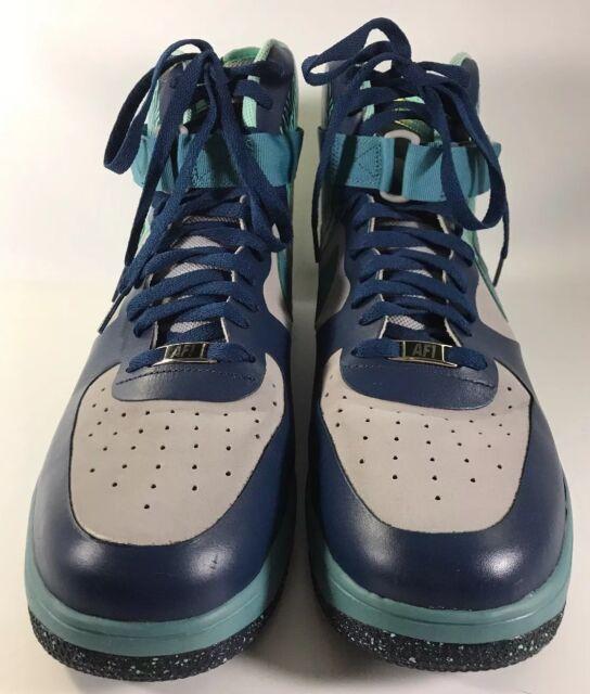 innovative design 34c22 926de Nike Air Lunar Force 1 Hi NS Prm Silver Mineral Teal Size 13 Men Basketball  Shoe