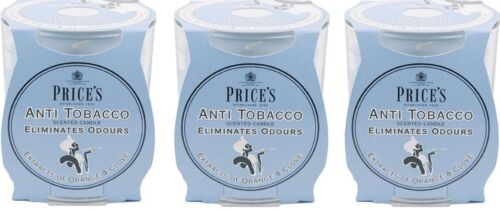 Eliminates Tobacco and Smoking Odour 3x Price/'s Anti-Tobacco Candle in Jar