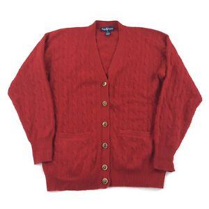 6e52f16c88d46 Image is loading Vintage-Polo-Ralph-Lauren-Cashmere-Sweater-Cardigan-Women-