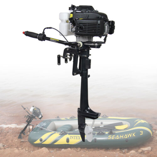4 HP4-Stroke Outboard Motor 52CC Boat EngineMotor Boat Hook Air Cooling System